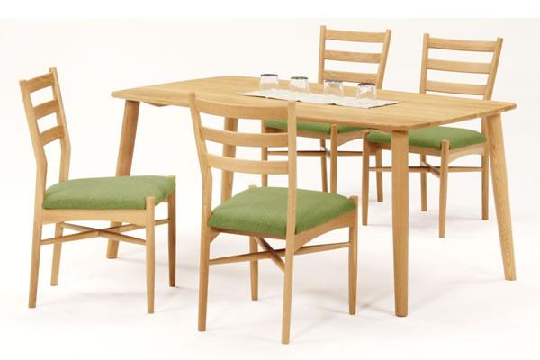 ナチュラルNA色:天然木タモ材無垢 ダイニングテーブル&チェア - ユートップ ルーミー