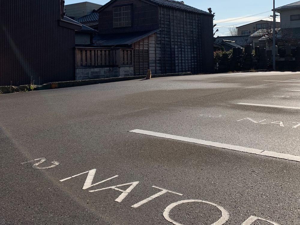 駐車場の路面マーキング