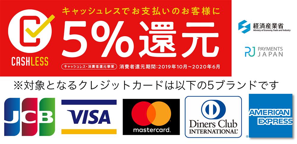 キャッシュレイ消費者還元カード5ブランド