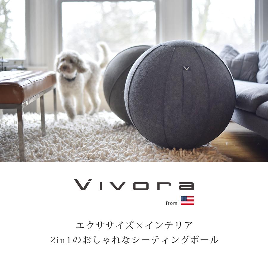 山崎実業 YAMAZAKI Vivora バランスボール おしゃれ シーティングボール 体幹 インテリア ソファ 椅子 エクササイズ×インテリア 2in1のおしゃれなシーティングボール
