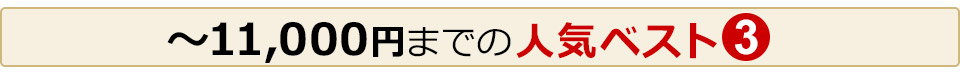 11,000円までの「人気ベスト3」