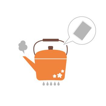 ティーバッグ1袋に対して水1リットル程度で煮出します