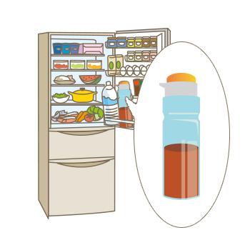 十分に冷まして、容器に移し替えて冷蔵庫で保存しましょう