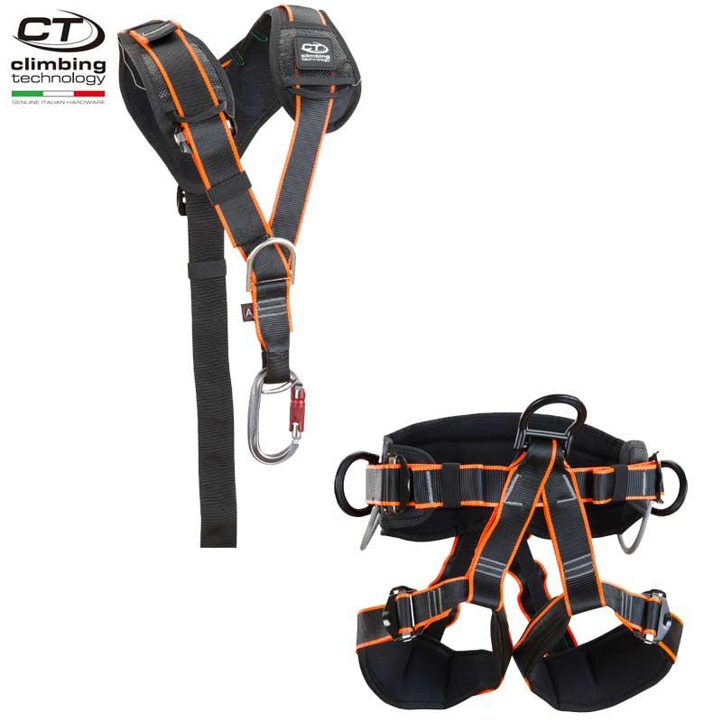 クライミングテクノロジー(climbing technology)(イタリア) セパレート型 フルボディ ハーネス 「アルプテック-2+アルプトップ-2」 ALP TEC-2+ALP TOP-2 ワークポジショニングハーネス & チェストハーネス