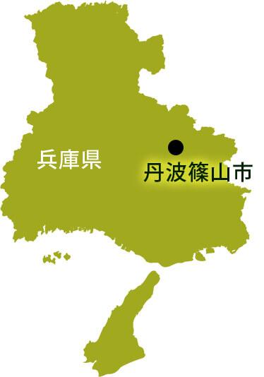 兵庫県丹波篠山市の地図