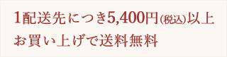 1配送先につき5,000円以上お買い上げで送料無料