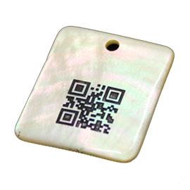 天然石QRコード/レーザー加工