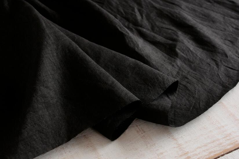リネン100% 80番手ブラック L8080-3
