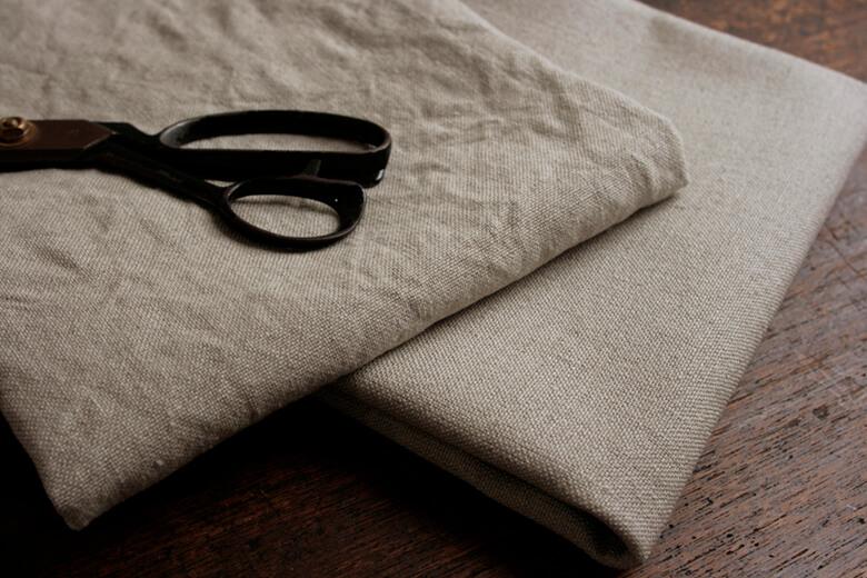 リネン100%帆布(はんぷ)ダブルウォッシュ L253-1