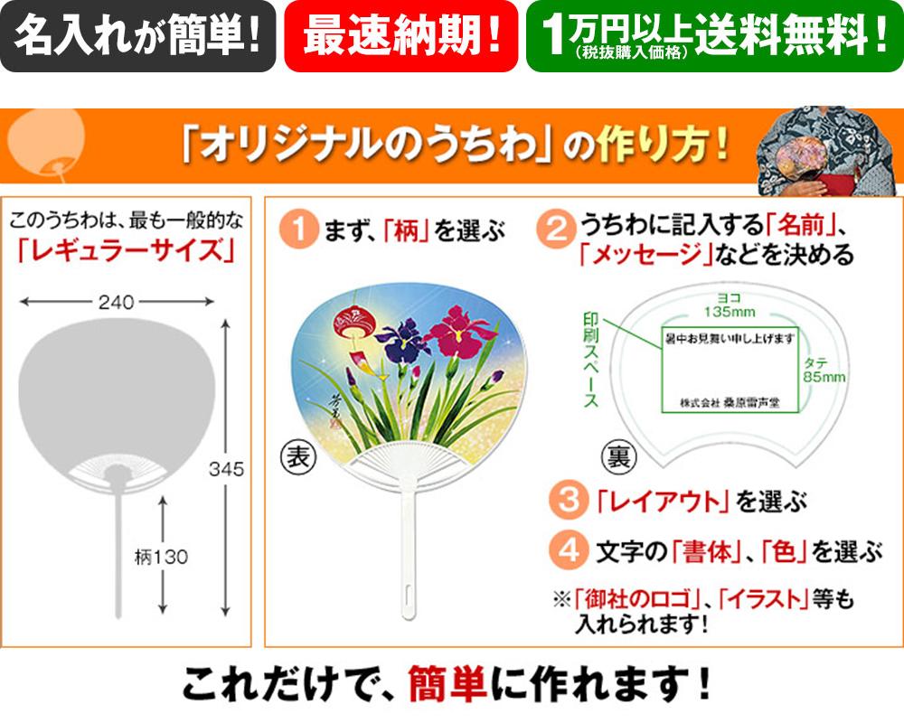 「店舗宣伝・会社広告・企業イベント用」シリーズ 名入れうちわの説明