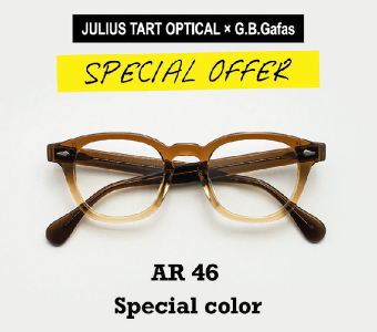 JULIUS TART OPTICAL(ジュリアスタートオプティカル) × G.B.Gafas SPECIAL OFFER