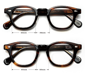 "JULIUS TART OPTICAL AR Handmade collection ""Demi Amber"""