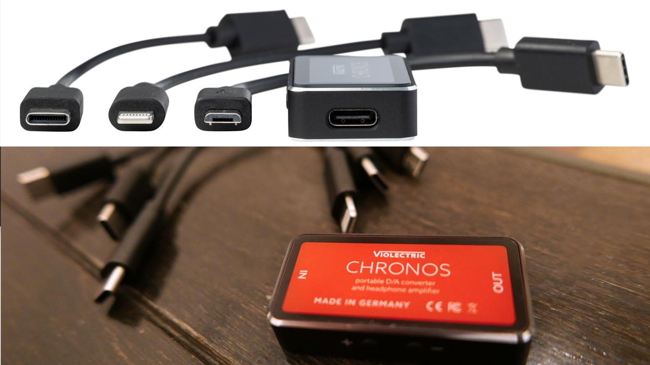 Violectric CHRONOS   3種類の接続ケーブルが付属