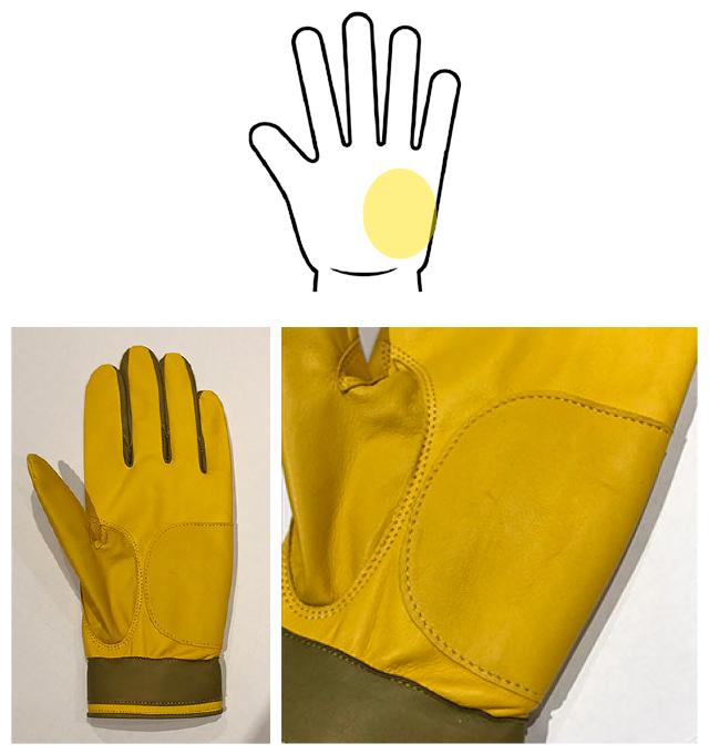 手の平部分