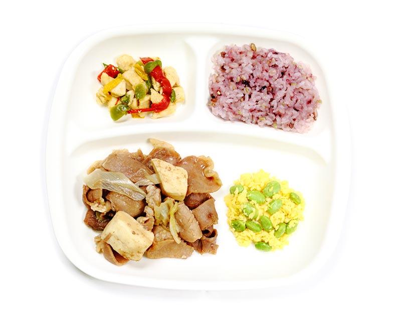 すき焼き風肉豆腐弁当
