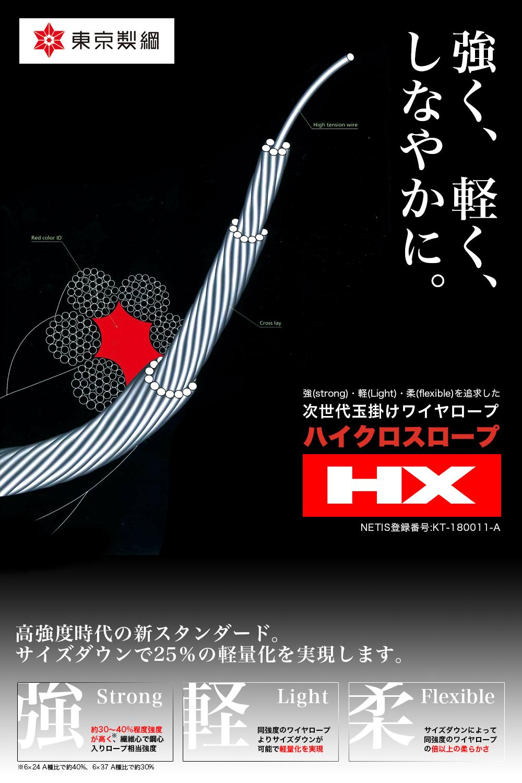 東京製綱 ハイクロスワイヤロープ - 高強度時代の新スタンダード