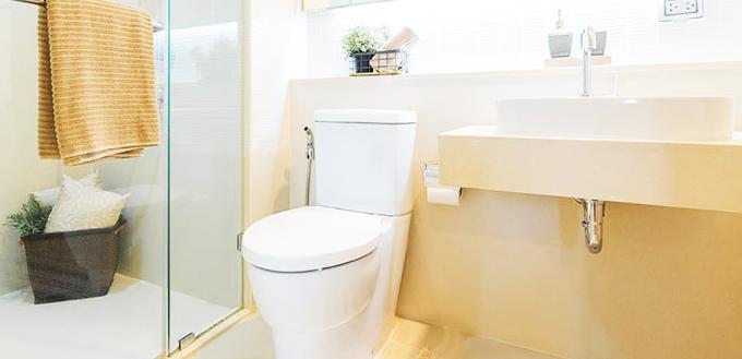 タオルのあるトイレ