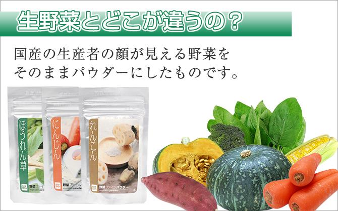 生野菜とどこが違うの?