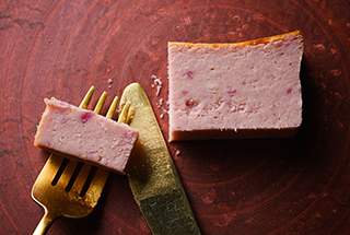 紫いもチーズケーキ
