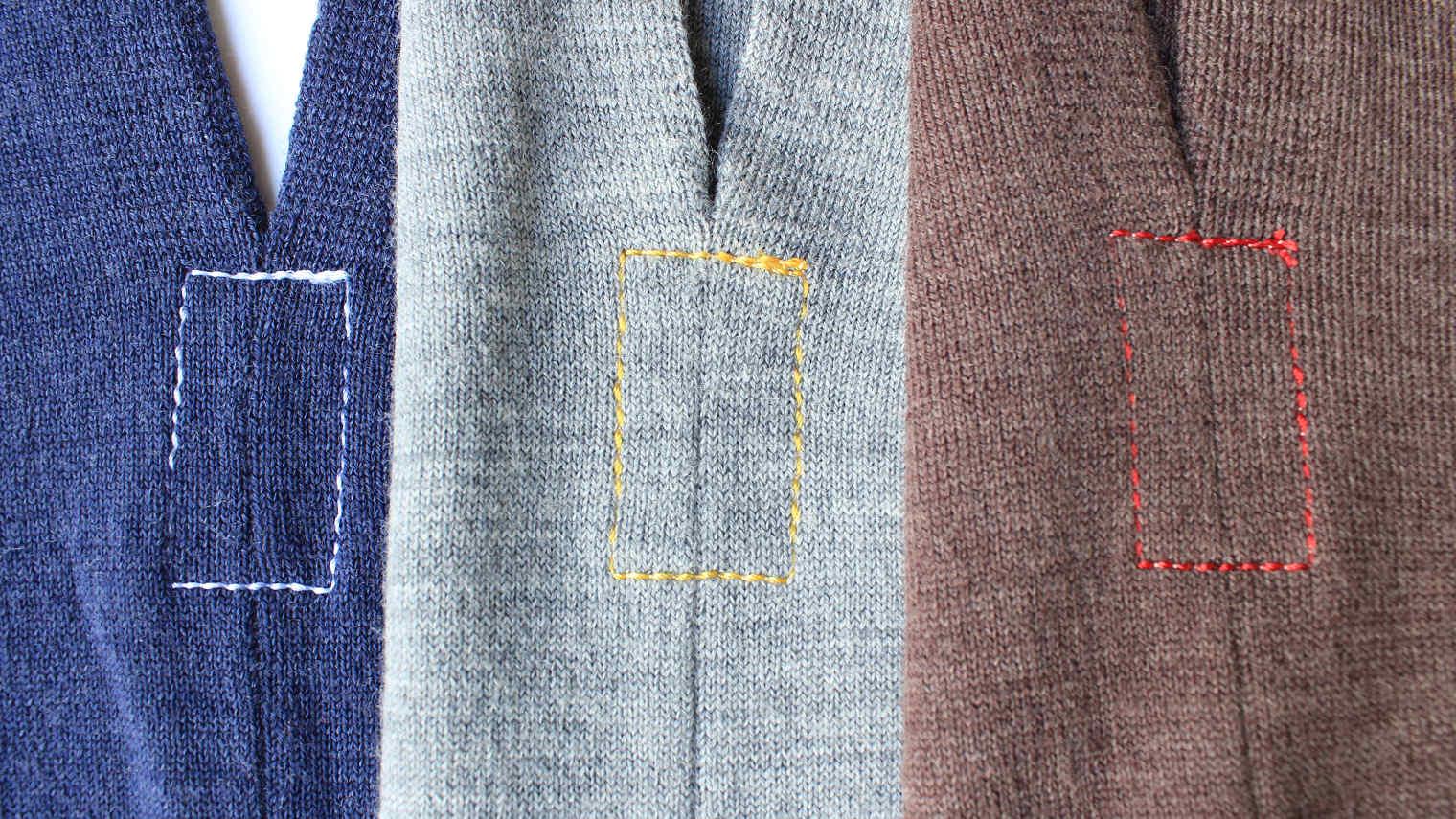 からだをつつむ ゆったりプルオーバー 洗濯機で洗えるウール 深いポケット付き