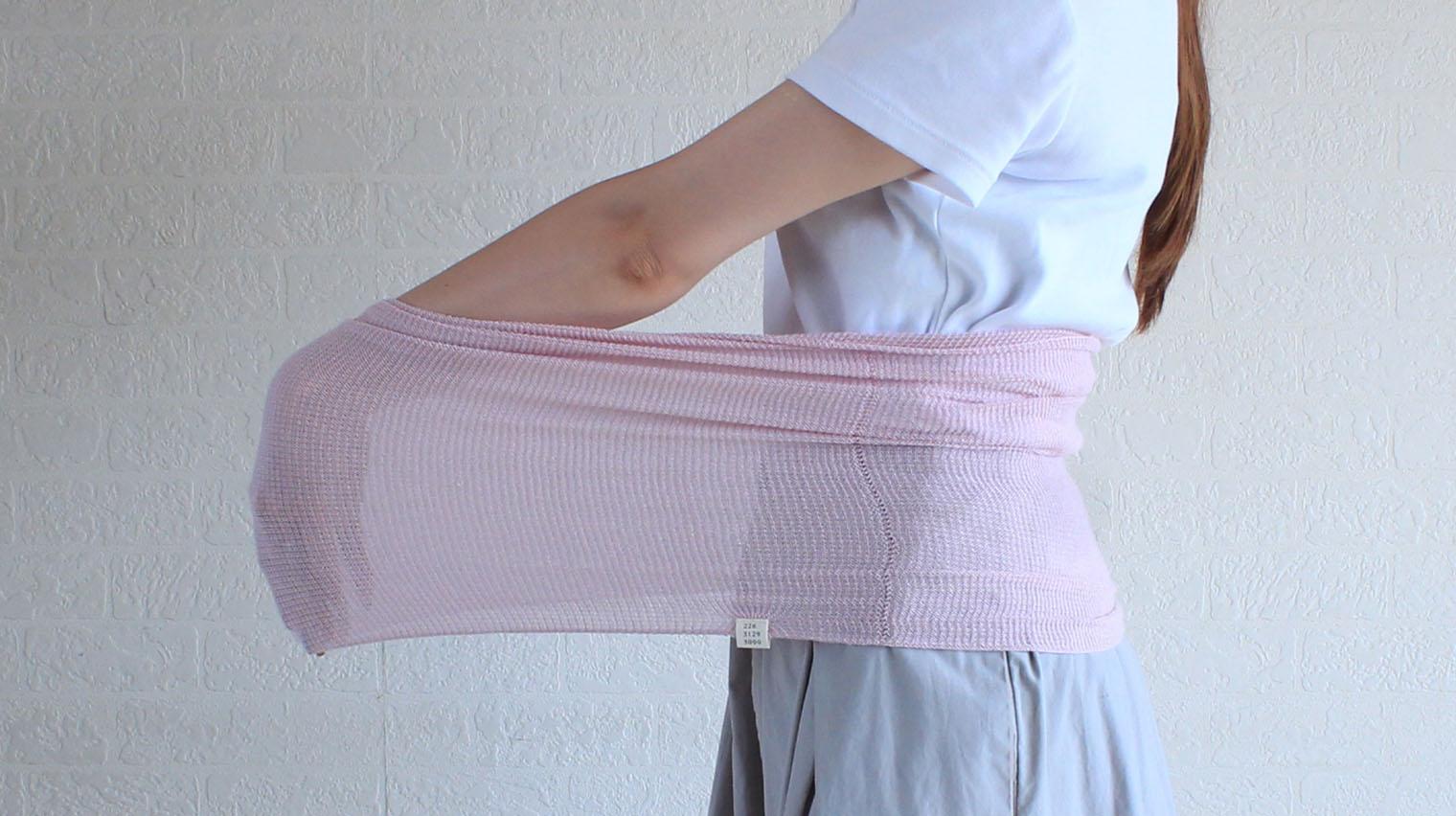 ハラマキ おなかをつつむ のびるニットハラマキ 薄手 冷え性 綿レーヨンシルク