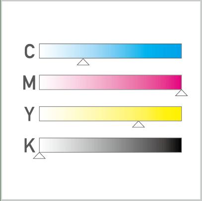 RGBカラーや特色が使用されている場合