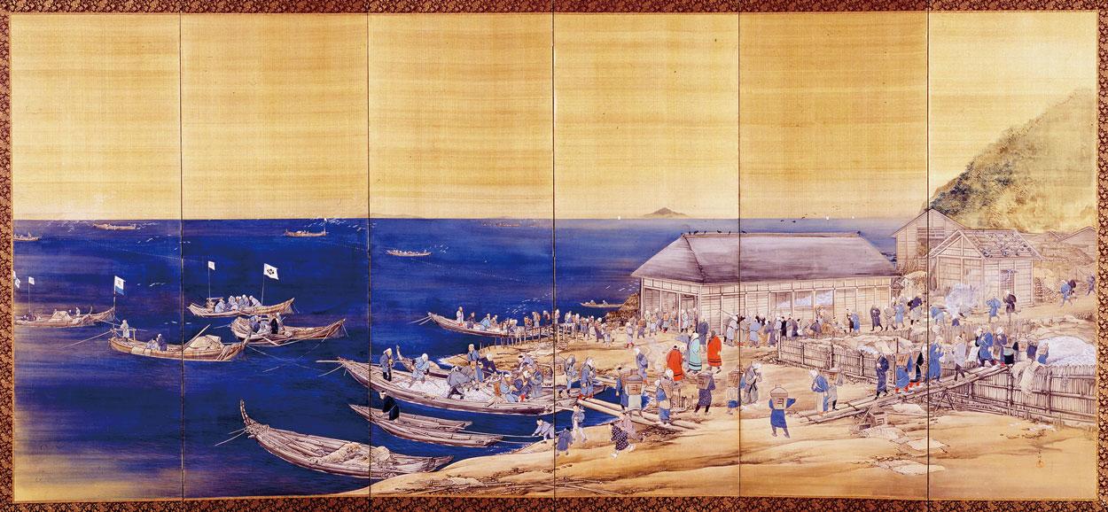 小樽市総合博物館所蔵「鰊盛業屏風」