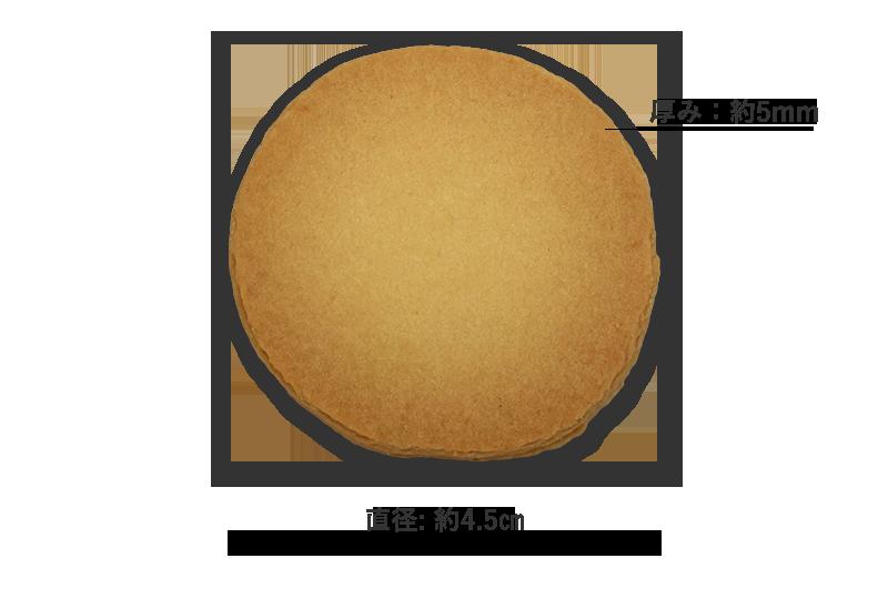 プリントクッキー 直径/厚み