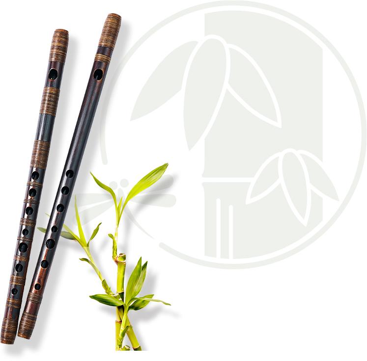 篠笛と篠竹