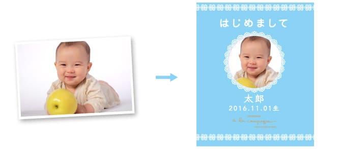 ア・ラ・カンパーニュの写真入り出産内祝いギフト