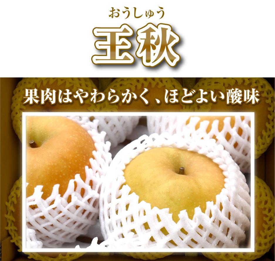 王秋(おうしゅう)果肉はやわらかく、ほどよい酸味