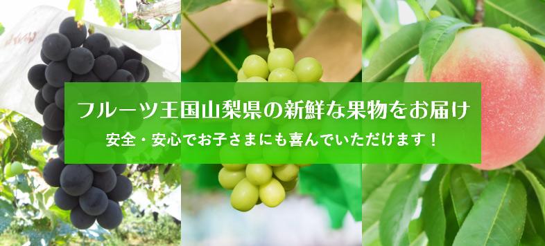 フルーツ王国山梨県の新鮮な果物をお届け