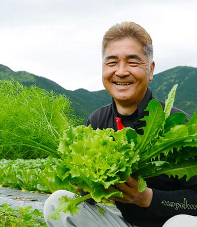 安心して食べてもらえる農作物を目指して